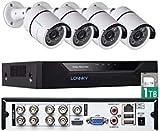 Tonton Full HD 1080P 8 canali HD-TVI Registratore digitale DVR con disco rigido da 1 TB, uscita HDMI/VGA, rilevamento movimento, DVR 5 in 1 (analogico/AHD/TVI/CVI/IP)