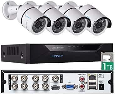 Tonton Full HD 1080P 8 Canales HD-TVI Grabadora DVR Digital con Disco Duro de 1TB, Salida HDMI/VGA, detección de Movimiento, DVR 5 en 1 (analógico/AHD/TVI/CVI/IP)