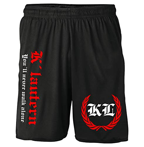Kaiserslautern Kranz Shorts | Fussball Sport Sommer Ultras Kurze Hose Sporthose (L, Schwarz Kranz M2)
