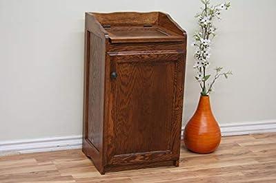 Trash Can/Hamper in Oak from Oak Design Corporation