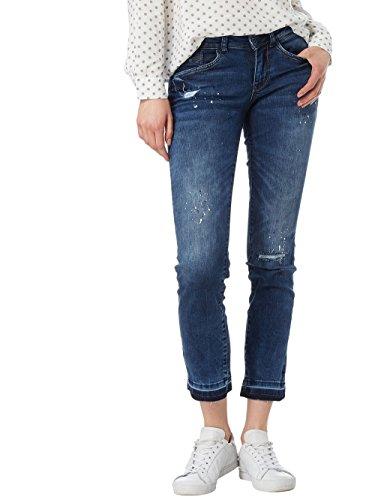 TOM TAILOR Damen Jeans Jeanshose Alexa Ankle Regular Fit Knöchellang (mid Stone, W28/L32)