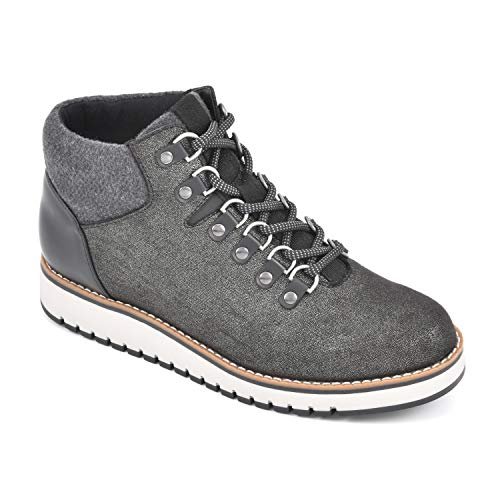 White Mountain Shoes Clifton Women's Lace-up Hiker Bootie, Black/Textile, 9.5 M