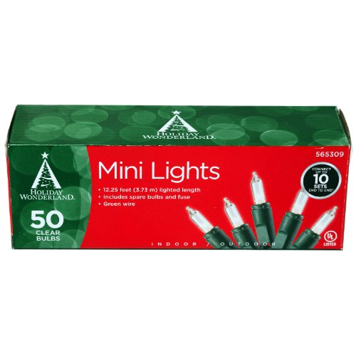 50-Count Clear Christmas Light Set