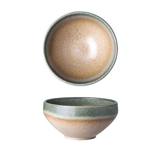 SCDMY Creativa Horno de cerámica vidriada Bowl, Adecuado for Fideos de Ensalada de Fruta Postre Soup Bowl Gachas Bowl, Creativa Vajilla Inicio Plato de Arroz