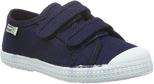 Natural World Mädchen Basquet Doble Velcro Paris Sneakers, Blau (Marino 77), 29 EU