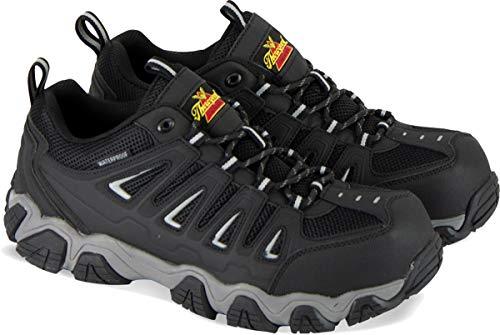 Thorogood 804-6293 Men's Crosstrex Series - Oxford Waterproof, Composite Safety Toe Hiker, Black/Grey - 8.5 W US
