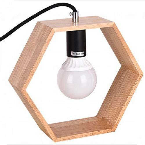 Koreaanse slaapkamer nachtkastje oogverzorging bureau lichtstudent retro hout nachtlampje LED tafellamp (zonder licht)