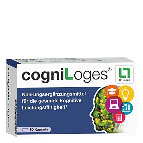 cogniLoges Nahrungsergänzungsmittel für die Konzentration - 60 Kapseln, trägt zur Steigerung kognitiver Leistung bei