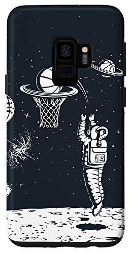 Galaxy S9 Space Phone Case Basketball Lover Moon Planets Stars Case