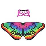 Hifot schmetterlingsflügel kinder, Schmetterling Verkleiden für Mädchen, Feenfl ügel für Tanz...