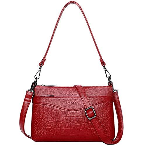 Bolso bandolera para mujer, estilo informal, bolso cruzado, bolso cruzado para cientos de la compra, piel de cocodrilo, bolso para mujer