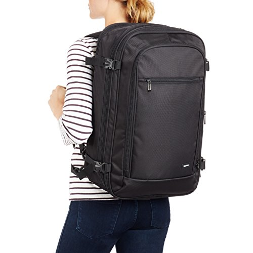 Amazon Basics Carry-On Travel Backpack - Black