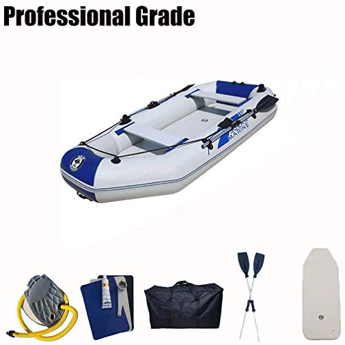 Fengyj Kyaks Botes inflables Kayak de Pesca Fuerte, Ideal para Lagos, Pesca y Mar Shores PVC,White Blue,270 * 140cm