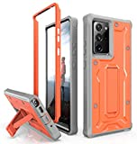 ArmadilloTek Vanguard Case Designed for Samsung Galaxy Note 20 Ultra 5G (2020 Release) Military Grade Full-Body Rugged with Built-in Kickstand [Screenless Version] - Orange