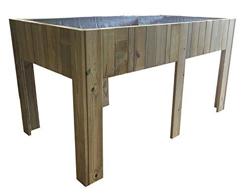 Grande Table de culture (potager urbain) en bois traité, 150 x 80 x 80 cm