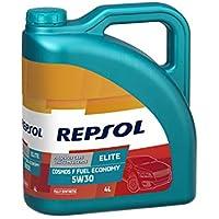 Repsol RP141F54 Elite Cosmos F Fuel Economy 5W-30 Aceite de Motor para Coche, 4 L