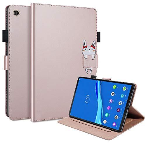 Funda para Lenovo Tab M10 FHD Plus 10.3'' 2020 Funda Protectora de Cuero PU de Calidad, TB-X606F/TB-X606X Flip Carcasa Cover con Función de Soporte para Lenovo Tab M10 Plus 10,3 Pulgadas,Oro Rosa