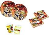 Little Flight Dragon Ball Z Goku e Vegeta Coordinato ADDOBBI TAVOLA Festa A Tema per 8 Bambini Kit(8 Piatti,8 Bicchieri,20 TOVAGLIOLI)