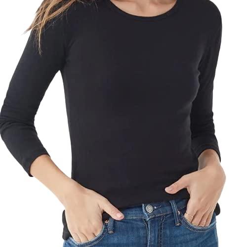tex leaves Camiseta Interior Térmica para Mujer - Colores a Elegir (Negro, S)
