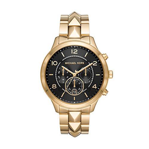 Michael Kors Women's Runway Mercer Quartz Watch with Stainless Steel Strap, Gold, 20 (Model: MK6712)