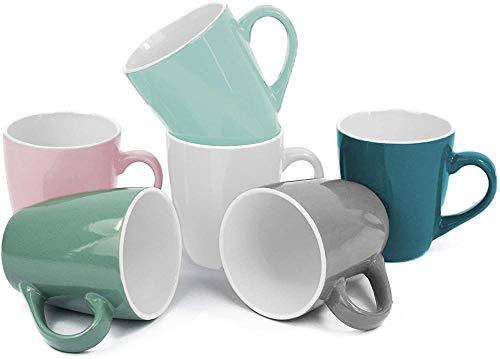 Taza de café de 6 piezas Taza de café de 150 ml Taza de café expreso Taza de té Taza de cerámica Taza de café Taza-Juego de 6 tazas de café