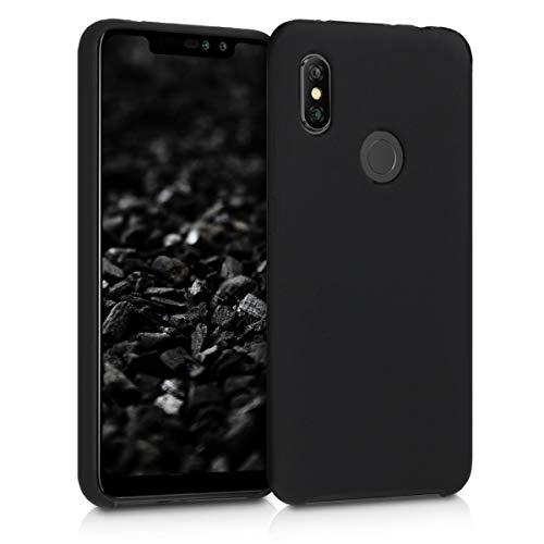 kwmobile Funda Compatible con Xiaomi Redmi Note 6 Pro - Carcasa de TPU para móvil - Cover Trasero en Negro Mate
