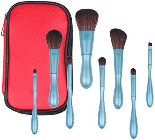 MU Beauté Outils de maquillage Brush Set, 8Pcs doux cheveux synthétiques Ombre à paupières Pinceau à lèvres ligne (Bleu)