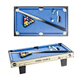haxTON Mini Pool Table Billiard Table Set with All Accessories, Fun Tabletop Games for Kids and Adults Space Saving Pool Table Set, Gift for Children