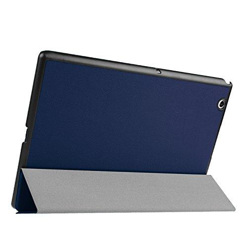 Kepuch Custer Hülle für Sony Xperia Z4 Tablet,Smart PU-Leder Hüllen Schutzhülle Tasche Hülle Cover für Sony Xperia Z4 Tablet - Blau