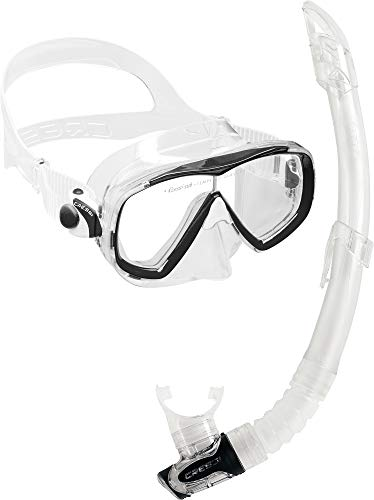 Cressi Combo Set Estrella + Gamma Conjunto Combinado de máscara de Buceo y Snorkel, Unisex-Adulto, Transparent/Negro, Talla única