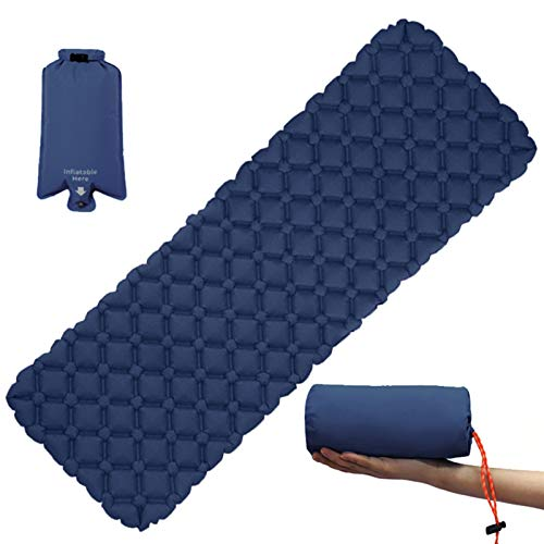 Colchón Inflable al Aire Libre Diamante Ultra-Ligero Camping Mat Senderismo Cojín de Aire Alfombrilla para Dormir Portátil Portátil Húmedo a Prueba de Agua (Color : Yellow, Size : One Seat)