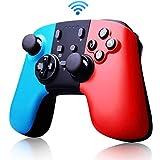 Etpark Switch 無線 コントローラー スイッチ ワイヤレス ゲームパッド ジャイロセンサー/TURBO連射/HD振動機能搭載 Bluetooth USB 接続 日本語取扱説明書付き