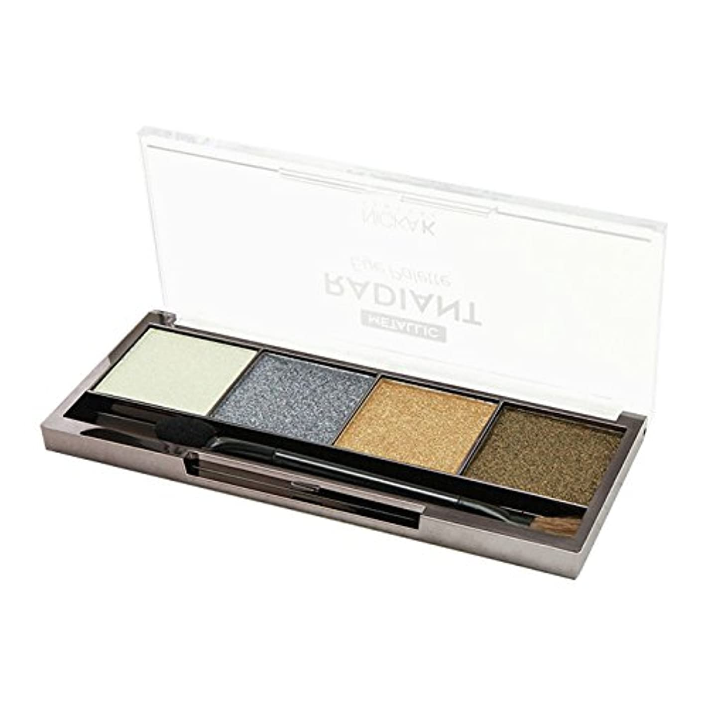 悲劇儀式明確に(6 Pack) Nicka K Metallic Radiant Eye Palette - Saturn (並行輸入品)
