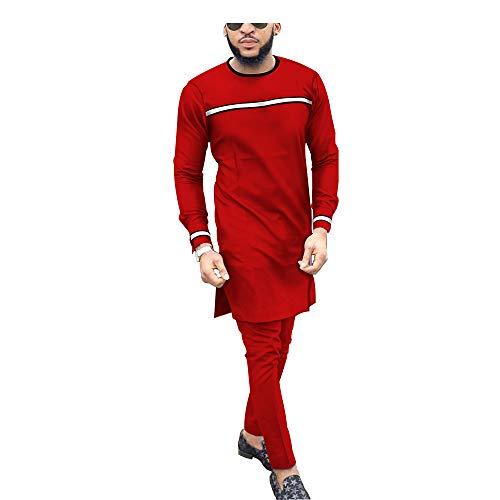 Men`s Suit African Dashiki Coats Jacket+Ankara Pants 2 Piece Set Long Sleeve Shirt Tracksuit 3 12 11 3XL