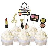Unimall Global 21 adornos brillantes para maquillaje de cupcakes y magdalenas, decoración para tartas de fiesta de novia o niña