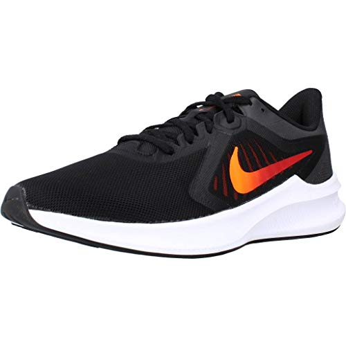 Nike Downshifter 10 Deportivas Hombres Negro/Naranja - 39 - Running/Trail Shoes