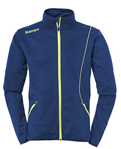 Kempa Curve Classic Jacket Homme, Deep Bleu/Fluo Jaune, L