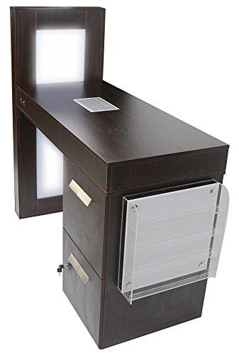 Profi-Manikürtisch mit Nagelstaubabsauger, LED-Beleuchtung und Sammelbeutel 601026