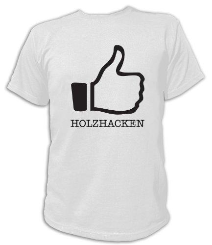 Artdiktat T-Shirt Like Holzhacken, Unisex, Grösse XXL, weiß