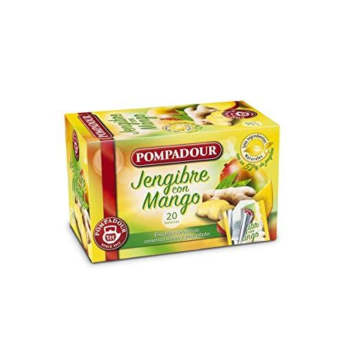Pompadour - Tee Mango Ingwer - Pack 20 Beutel