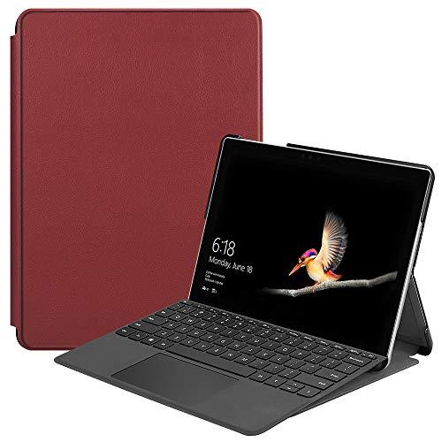 Funda Case para Microsoft Surface GO, Carcasa Protectora Cuero con Función de Soporte para Microsoft Surface GO 10