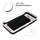 Eyelash Extensions 0.03mm D Curl 15mm Supplies Matte Black Individual Eyelashes Salon Use|0.03/0.05/0.07/0.10/0.15/0.20mm C/D Single 8-18mm Mix 8-15mm|(0.03 D 15mm)