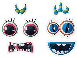Monster Face Creations Pop Tops Cake Decorations - 6 pc set