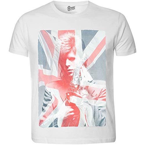 David Bowie Union Jack Flag T-shirt for Men, L, XL, XXL
