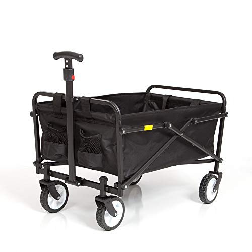 SEINA Collapsible Folding Wagon | Utility Cart, Portable, Lightweight, Fold up, for Groceries,...