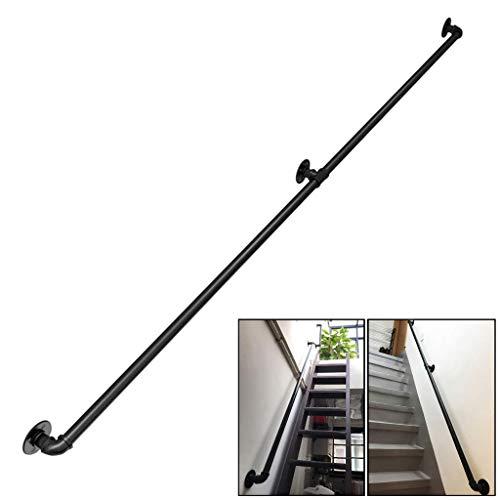 WangQiLing Barandilla Vintage de Hierro Forjado para Interior, Exterior, Escalera, barandilla, terraza, Escalera, barandilla, Kit de Soporte de Pared, barandillas-200cm