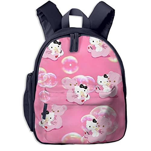 Bear And Hello Kitty Mochila escolar para niñas, mochila grande para viajes escolares