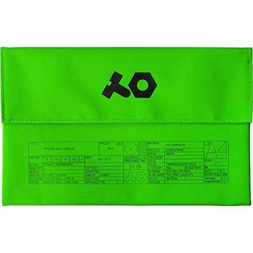 Teenage Engineering TE PVC Roll Up Bag Case - Neon Green