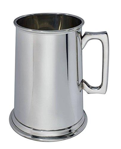 Wentworth Pewter - Jarra de peltre de 4 pintas, taza de cerveza, jarra gigante