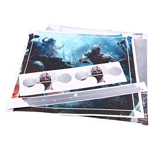 Fantasyworld A Prueba de Agua Entero de la Piel del Cuerpo de Vinilo Etiqueta Cubren la Etiqueta para Sony PS4 Pro Consola y Mandos 2Pcs Protective Skins